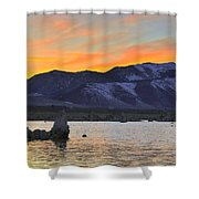 Mono Sunset Shower Curtain