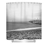 Monochromatic Landscape  Shower Curtain