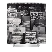 Monochrome Candy Shower Curtain