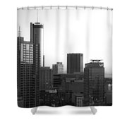 Monochrome City Shower Curtain