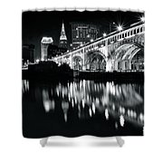 Monochrome Cleveland Shower Curtain