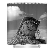 Monochrome Scarecrow Shower Curtain