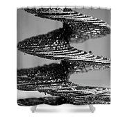 Monochrome Spiral Shower Curtain