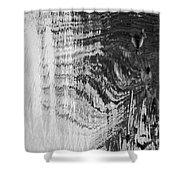 Monochrome Water Shower Curtain
