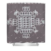 Monogram Qm Ivory Slate Shower Curtain