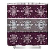 Monogram Qm Plum Wine Slate 2 Shower Curtain