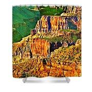 Monolith North Rim Grand Canyon Shower Curtain