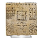monopoly Board Game 1935 Shower Curtain