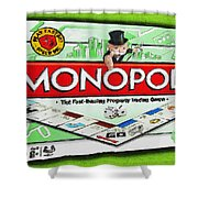 Monopoly Board Game Painting Shower Curtain