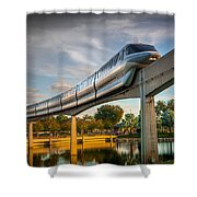 Monorail At Golden Hour Shower Curtain