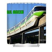 Monorail Green Wdwrf Shower Curtain