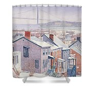 Monroe St Staten Island Shower Curtain