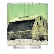 Monster Barn Shower Curtain