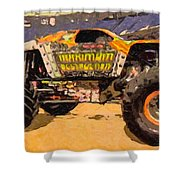 Monster Jam Party In The Pits Shower Curtain