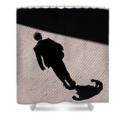 Monster Of Shadows  Shower Curtain
