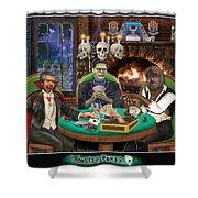 Monster Poker Shower Curtain