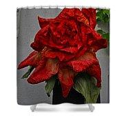 Monster Red Flower Shower Curtain