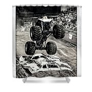 Monster Truck 1b Shower Curtain