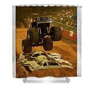 Monster Truck 2a Shower Curtain