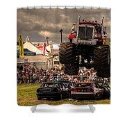 Monster Truck Destruction  Shower Curtain by Rob Hawkins