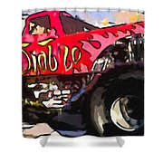 Monster Truck El Diablo Shower Curtain