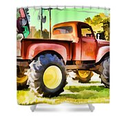 Monster Truck - Grave Digger 1 Shower Curtain