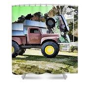 Monster Truck - Grave Digger 2 Shower Curtain