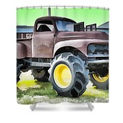 Monster Truck - Grave Digger 3 Shower Curtain