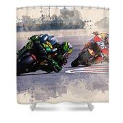 Monster Yamaha Shower Curtain