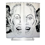 Monsters Then And Now Shower Curtain