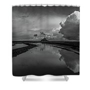Mont Bw Shower Curtain