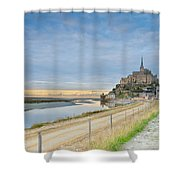 Mont St Michel At Sunset  Shower Curtain