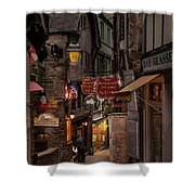 Mont-st-michel, Grand Rue At Night Shower Curtain