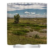 Montana Country And Tree Shower Curtain