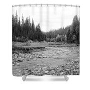 Montana Creek Bend Shower Curtain