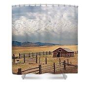 Montana Farmyard Shower Curtain