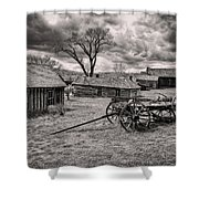 Montana Ghost Town Shower Curtain