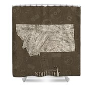 Montana Map Music Notes 3 Shower Curtain