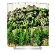 Montana Mountains In Autumn  Shower Curtain