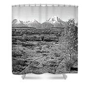 Montana Mountainscape Shower Curtain