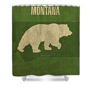 Montana State Facts Minimalist Movie Poster Art Shower Curtain