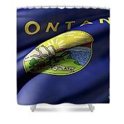 Montana State Flag Shower Curtain