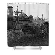 Montana Steam Farm Tractor Shower Curtain