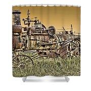 Montana Steam Punk - Nevada City Ghost Town Shower Curtain by Daniel Hagerman