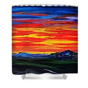 Montana Sunset Colors                     72 Shower Curtain