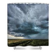 Montana Thunderstorm Shower Curtain