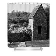Montauk Guard House 2 B W Shower Curtain