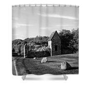Montauk Guard House B W Shower Curtain
