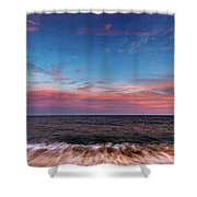 Montauk Pink Surf Shower Curtain