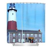 Montauk Point Light  Shower Curtain